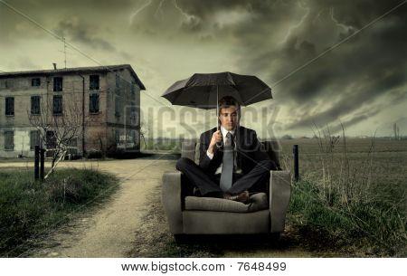 Countryside rain