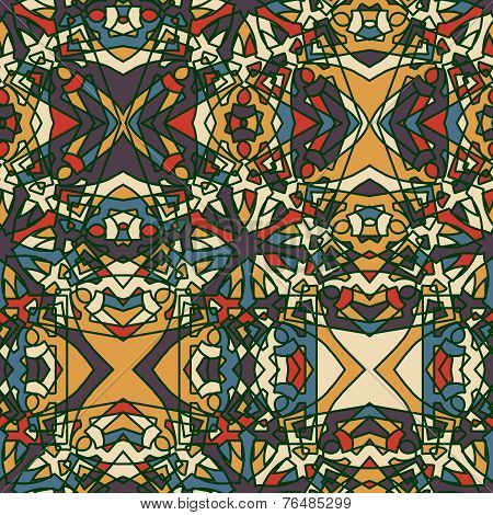 Fantasy vintage seamless pattern.