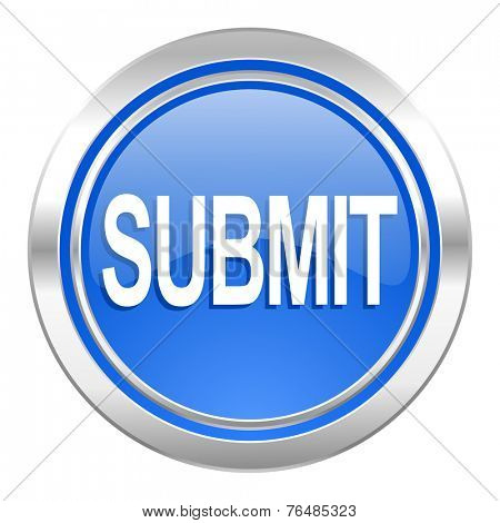 submit icon, blue button