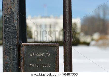 The White House in Winter with