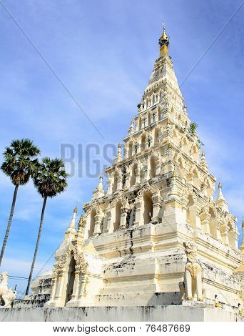 Ancient White Square Pagoda