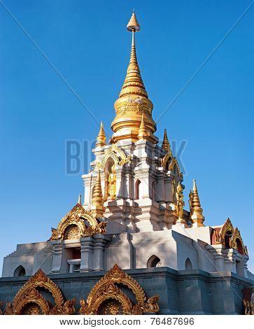 Phra Boromathat Chedi buddhist pagoda in Santikhiri village of Doi Mae Salong in Chiang Rai province of northern Thailand