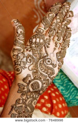Traditional culture of India - Mehandi hand