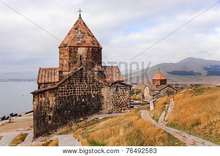 Sevanavank Monastery And Lake Sevan