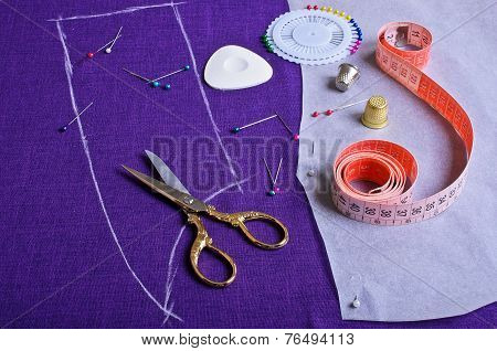 The Outline On The Fabric