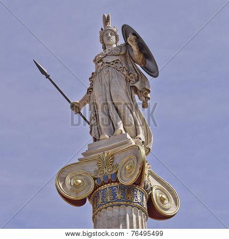Athena statue the goddess of science and wisdom