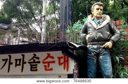 Seoul, South Korea: James Dean statue