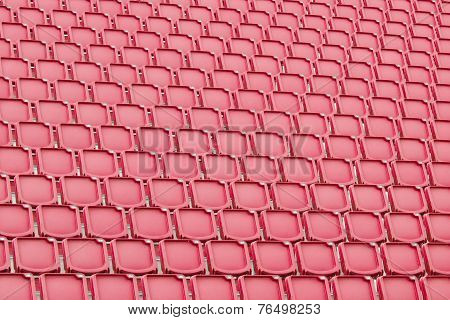 Red Seat In Sport Stadium