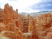foto of hoodoo  - Sandstone hoodoos of Bryce Canyon National Park Utah USA - JPG
