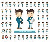 picture of cartoon character  - Set of businessman character eps10 vector format - JPG