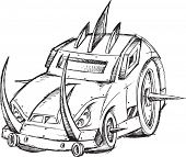 foto of armored car  - Armored Car Vehicle Sketch Vector Illustration Art - JPG