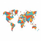foto of earth structure  - Abstract World Map  - JPG