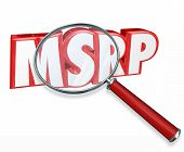 picture of clientele  - MSRP 3d letters under a magnifying glass to advertise sticker - JPG