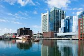 picture of prudential center  - Modern buildings in The financial district waterfront in Boston  - JPG