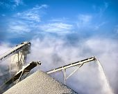 stock photo of smog  - Stone crushing equipment - JPG