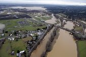 picture of flood  - Washington state flooding is frequent in the farm valleys along Interstate 5 - JPG