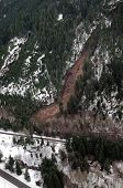 picture of mudslide  - Mudslides scar the hillsides of Washington state following heavy rain on top of snow - JPG