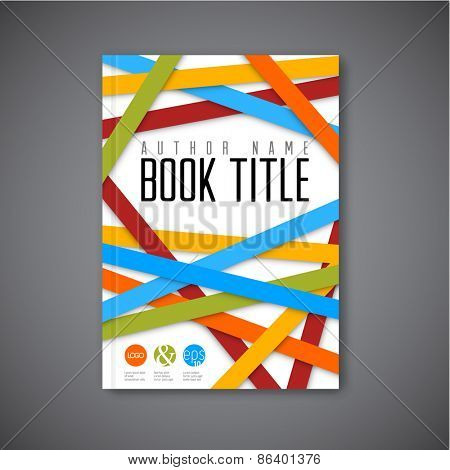 Modern Vector abstract brochure / book / flyer design template - light  version