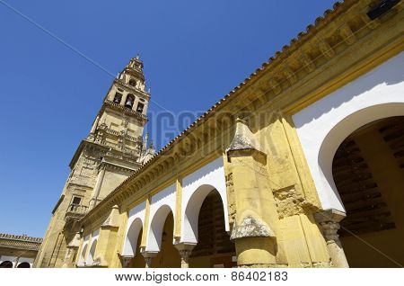 Tower of the mosque in Cordoba, Andalucia, Spain.