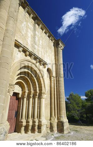 Santiago Church in Aguero, Huesca province, Aragon, Spain.