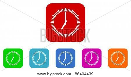 clock vector icon set