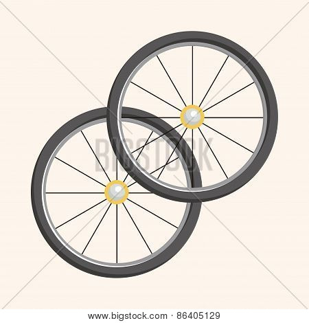 Bicycles Equipment Theme Elements
