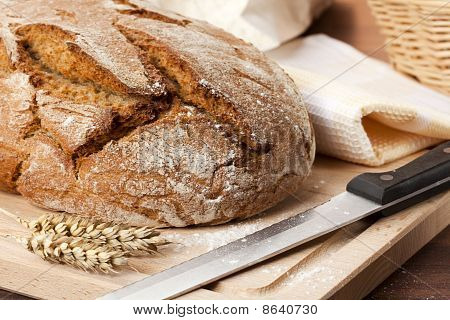 Fresh Homemade Bread Still Life