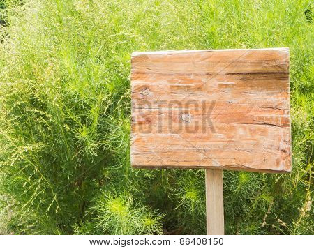 Old Wooden Billboard