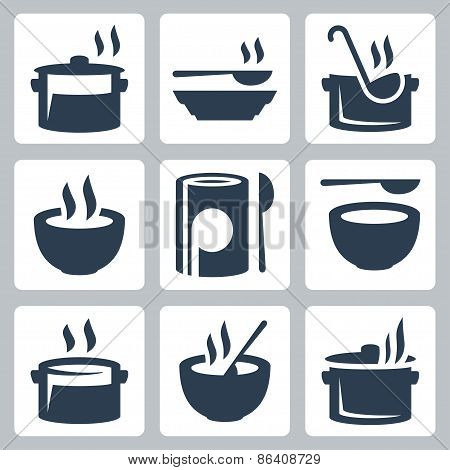 Soup Related Vector Icon Set