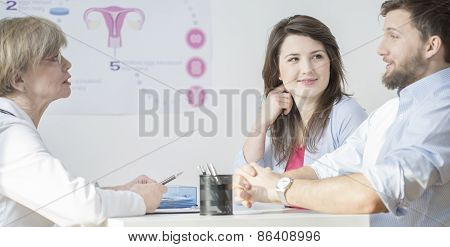 Young Couple At Gynecological Office