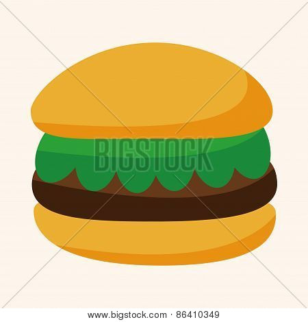 Fast Foods Hamburger Theme Elements