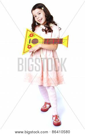Little girl with balalaika