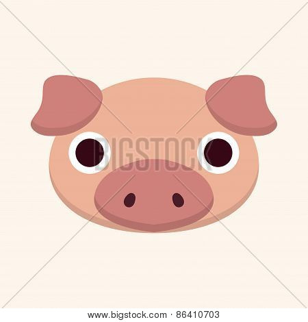 Animal Pig Cartoon Theme Elements
