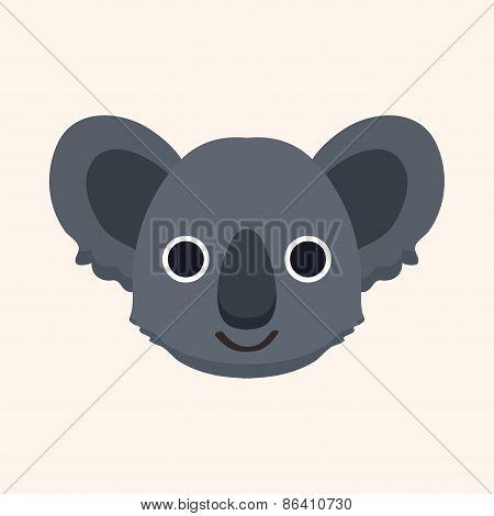 Animal Koala Cartoon Theme Elements