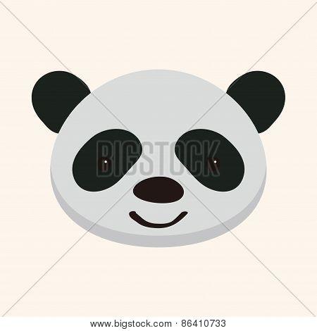 Animal Panda Cartoon Theme Elements