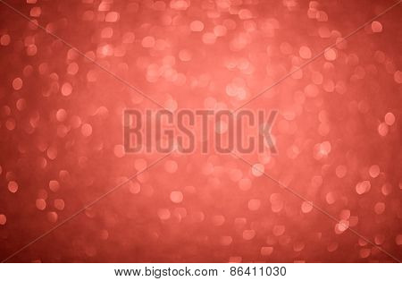 Red Glitter Background With Bokeh Defocused Silver Lights