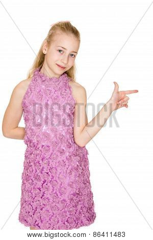 lavender gown shows your finger in the