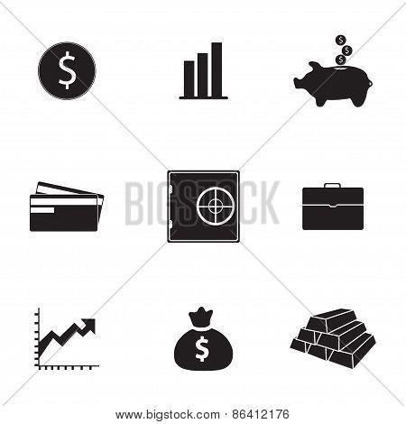 Vector bank icons set