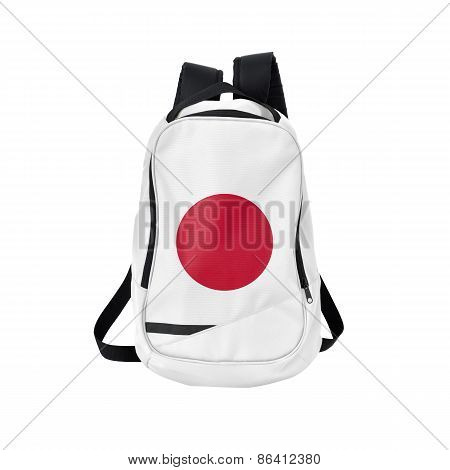 Japan Flag Backpack Isolated On White