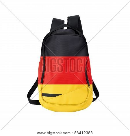 German Flag Backpack Isolated On White