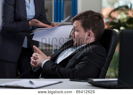 Employee Listening Remarks From Boss
