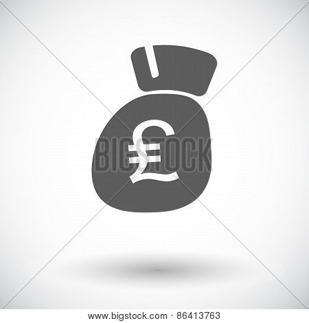 Pound sterling flat icon.