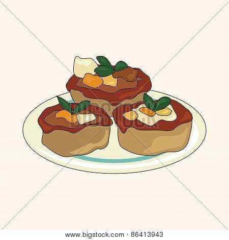 Italian Food Theme Elements