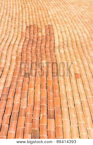 Red Brick Sidewalk