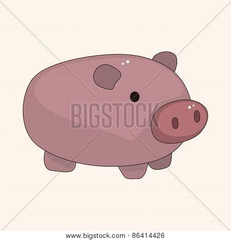 Piggybank Theme Elements