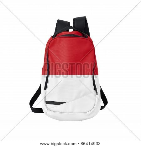 Indonesia Flag Backpack Isolated On White