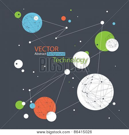 Abstract Technology and Communications Vector Background