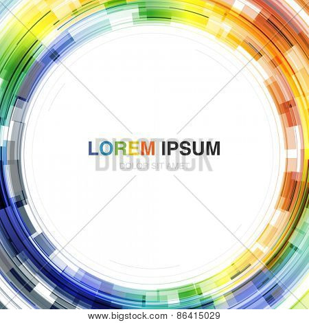 Colorful Background with Circle Shape in Center. Vector Template for Covers, Posters, Annual Reports etc