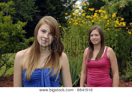 Teenage Girls Outdoors