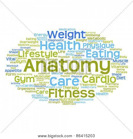 Vector concept or conceptual abstract health word cloud or wordc